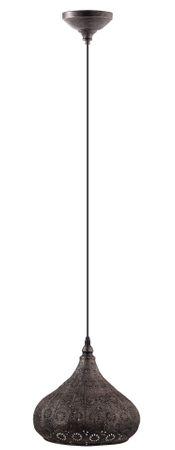 Hängeleuchte Vintage MELILLA Ø 28,5cm dimmbar in silber-antik