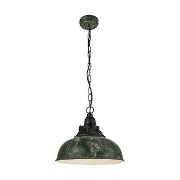 Hängeleuchte Vintage GRANTHAM 1 Ø 37cm dimmbar in grün-antik, schwarz