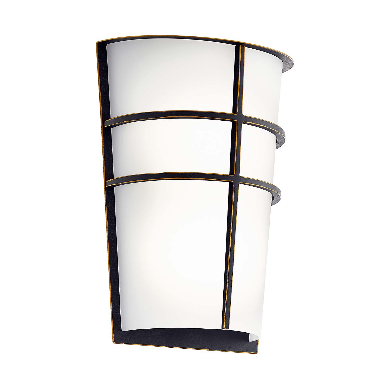 led aussenleuchte wandleuchte 2 flammig dunkelbraun weiss breganzo aussenleuchten wandleuchten. Black Bedroom Furniture Sets. Home Design Ideas