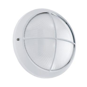 LED Outdoor Deckenleuchte SIONES 1 weiss weiss Ø26cm T:10cm IP44