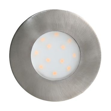 LED Outdoor Einbauleuchte PINEDA-IP nickel-matt Ø7,8cm 2044