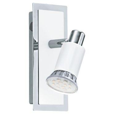 Eglo Spot LED  ERIDAN chrom, weiss glänzend, GU10 max. 1X5W
