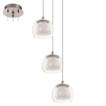 Eglo Modern LED ASCOLESE nickel-matt, LED max. 3X3,3W (B-Ware)