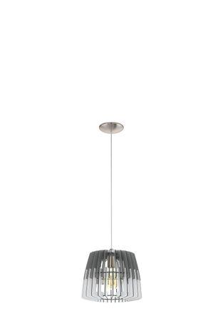 Hängeleuchte Lamellenlampe ARTANA Ø 30cm dimmbar in grau, weiss