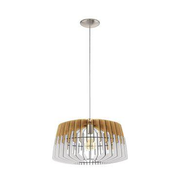 Hängeleuchte Lamellenlampe ARTANA Ø 48cm dimmbar in natur, weiss