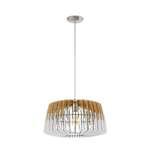 Hängeleuchte Lamellenlampe ARTANA Ø 48cm dimmbar in natur, weiss  001