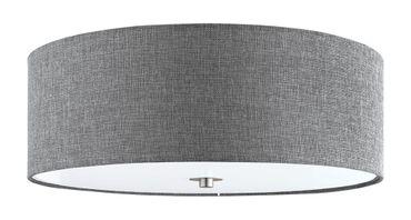 Deckenleuchte Stofflampe PASTERI Ø 47,5cm dimmbar in grau