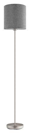 Stehleuchte Stofflampe PASTERI Ø 28cm in grau mit Fußtrittschalter