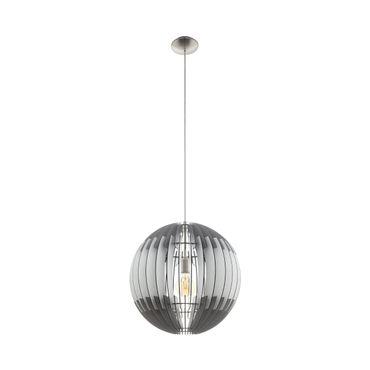 Hängeleuchte Lamellenlampe OLMERO Ø 50cm dimmbar in grau, weiss