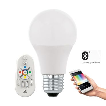 Smart Light LED E27 Leuchtmittel CONNECT 9W dimmbar, RGB+TW inkl Fernbedienung