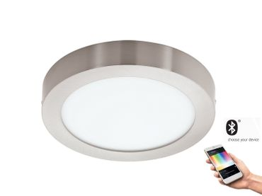 Smart Light LED Aufbauleuchte FUEVA-C Ø 30cm dimmbar in weiss Connect Funktion