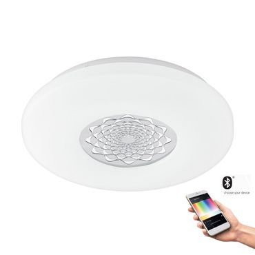 Smart Light LED Aufbauleuchte CAPASSO-C Ø 34cm dimmbar weiss, chrom Connect