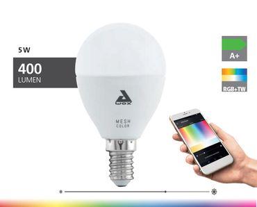 EGLO Connect - Smartes LED Leuchtmittel E14 P50 5W BLE/RGB/CCT