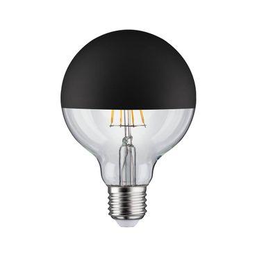 LED Globe 95 Kopfspiegel Schwarz matt 5W E27 Warmweiß dimmbar 285.46