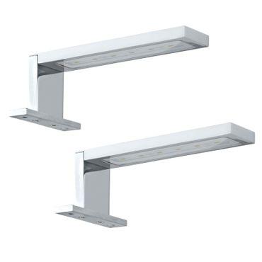 Eglo Wandleuchte/Deckenleuchte LED IMENE chrom, LED max. 2X3W (2X6 LED)