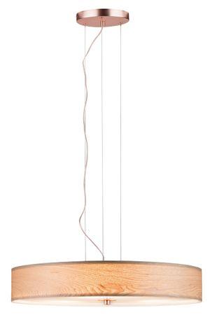 Pendelleuchte Neordic Liska 3-flammig Holz/Kupfer matt 796.49