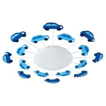 Wandleuchte Deckenleuchte, Kinderzimmer für Jungen VIKI in blau Ø 63cm