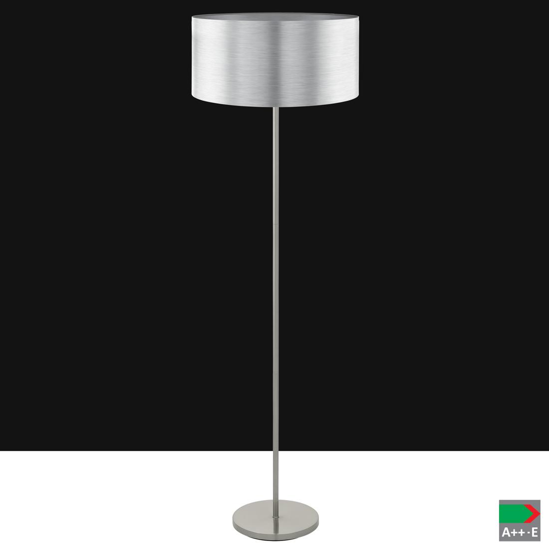 Einzigartig Stehleuchte Silber Beste Wahl Saganto Nickel-matt Ø45cm H:166,5cm