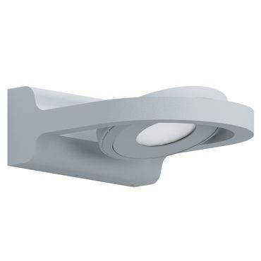 LED Outdoor Wandleuchte ROALES silber weiss L:14cm H:6cm T:17cm IP44