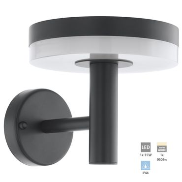 LED Outdoor Wandleuchte MAZZINI anthrazit weiss L:20cm H:18cm T:24,5cm IP44