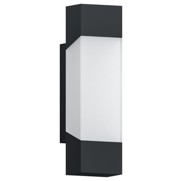 LED Outdoor Wandleuchte GORZANO anthrazit satiniert L:8cm H:29cm T:10,5cm IP44