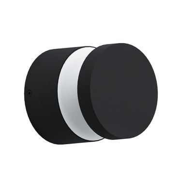 LED Outdoor Wandleuchte MELZO schwarz transparent Ø13,5cm H:13cm IP44