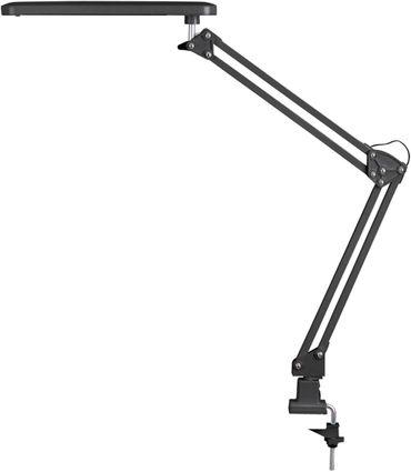 LED Schreibtisch-/Klemmleuchte Raul aus Metall Kunststoff schwarz B:5cm H:50cm mit Schalter