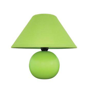 Tischleuchte Ariel aus Keramik Textil grün Ø20cm H:19cm mit eingebautem Schalter