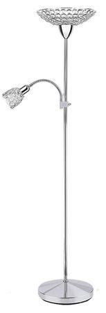 Stehleuchte Elle aus Metall Metall/ Glas crystal chrom Ø28cm H:172cm