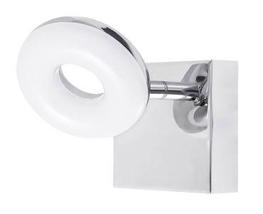 LED Badezimmerleuchte Beata aus Metall Kunststoff chrom L:15cm B:9cm H:9cm IP44