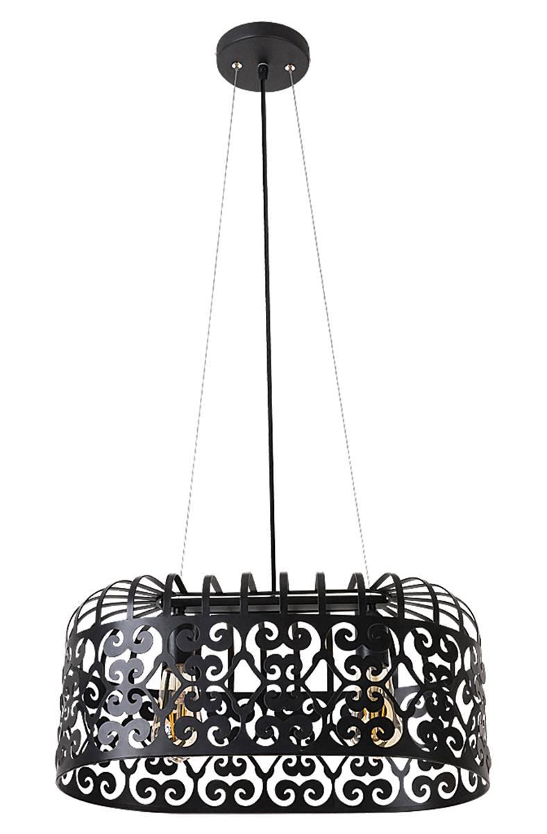 pendelleuchte alessandra aus metall metall matt schwarz. Black Bedroom Furniture Sets. Home Design Ideas
