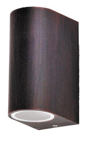 Außenleuchte Wandleuchte Chile aus Metall Glas antik braun L:9,4cm B:6,5cm H:14,5cm IP44