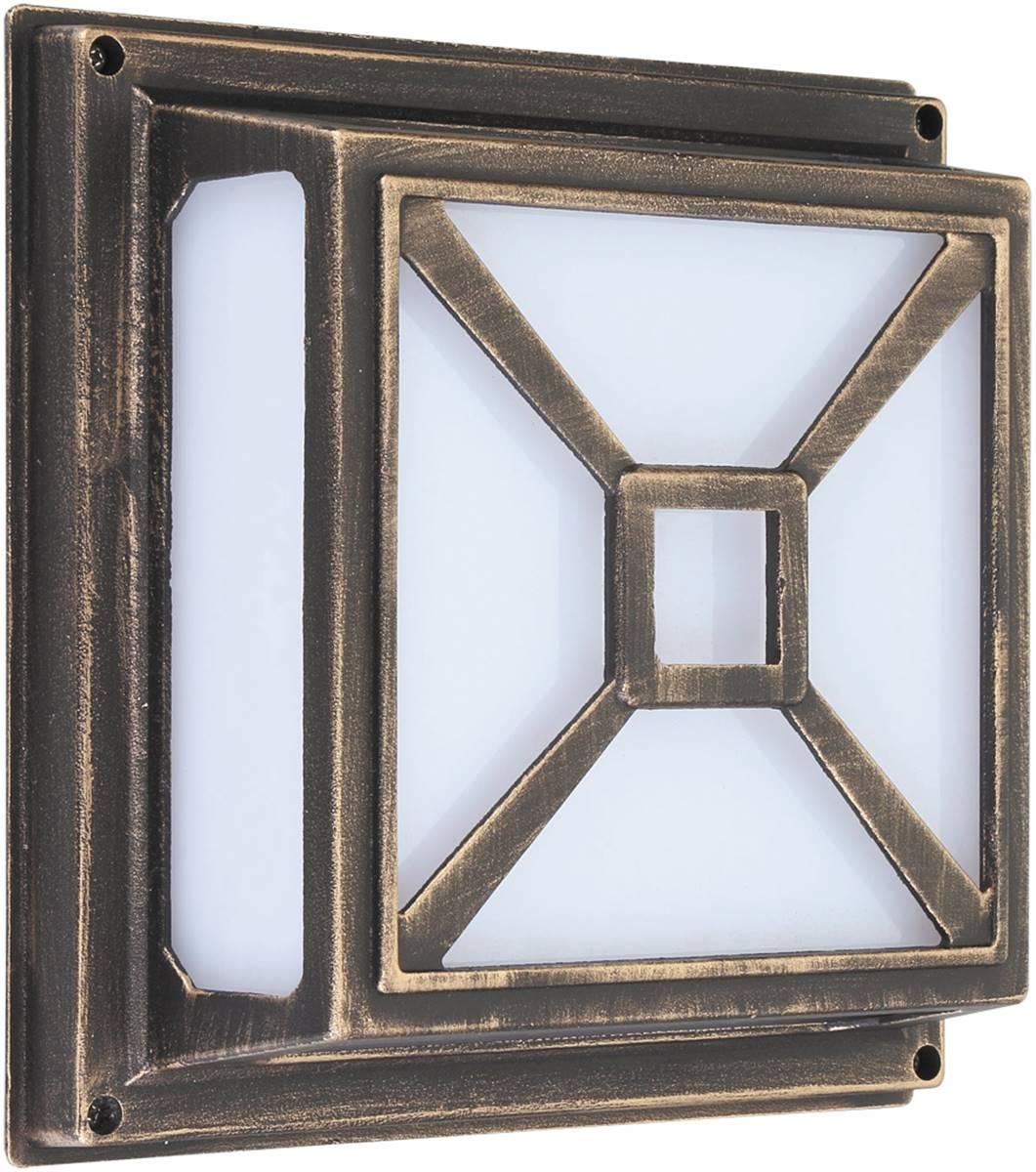 Außen Wand /Deckenleuchte Darius aus Metall Kunststoff antik gold L10,5cm B29cm H29cm IP54 ...