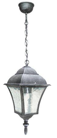Außenleuchte Pendelleuchte Toscana aus Metall Glas antik silber Ø20,5cm B:14,5cm H:32cm IP43