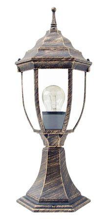 Außenleuchte Stehleuchte Tischleuchte Nizza aus Metall Glas antik gold Ø16,5cm H:41,5cm IP43