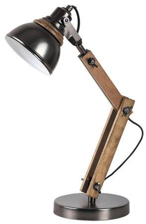 Tischleuchte Aksel aus Holz Metall Buche/ schwarz Ø16cm B:28cm H:47,5cm mit Schalter