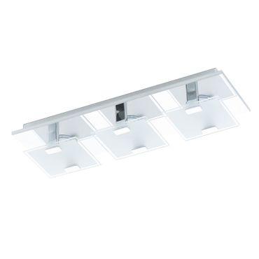 Eglo Wandleuchte/Deckenleuchte LED VICARO chrom, LED max. 3X2,5W