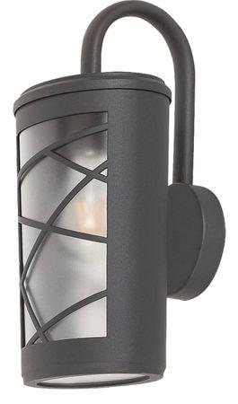 Außenleuchte Wandleuchte Pescara aus Alu Kunststoff anthrazit grau/ opal Glas L:18cm B:16cm H:37cm IP44