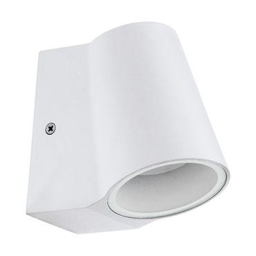 LED Wandleuchte SILVILLE weiss klar L:7,5cm H:12cm T:12cm IP44