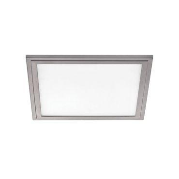 LED Deckenleuchte SALOBRENA 2 grau weiss L:30cm B:30cm H:1,1cm