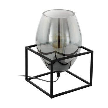Tischleuchte OLIVAL 1 schwarz schwarz-transparent L:20cm B:20cm H:30,5cm
