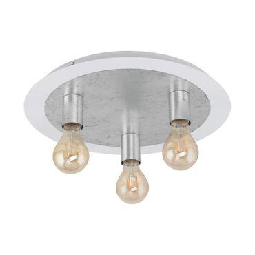 LED Deckenleuchte PASSANO weiss, silber  Ø45cm H:19,5cm