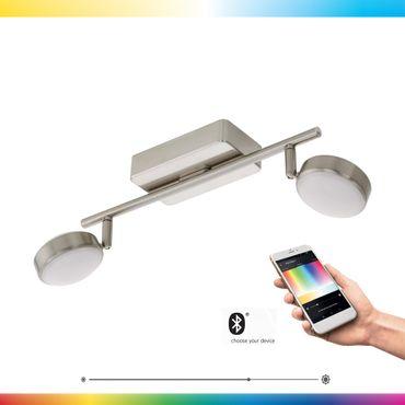 LED CORROPOLI-C nickel-matt weiss L:36,5cm B:8cm dimmbar mit Connect Funktion