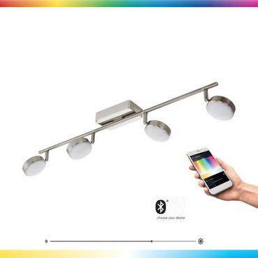 LED CORROPOLI-C nickel-matt weiss L:77cm B:8cm dimmbar mit Connect Funktion