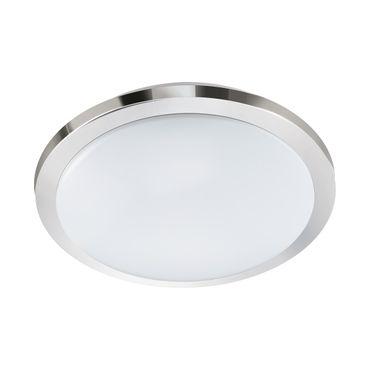 LED Deckenleuchte COMPETA 1-ST weiss weiss, chrom Ø40cm H:10cm IP44