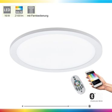 LED Deckenleuchte SARSINA-C weiss Ø30cm H:5cm dimmbar mit Connect Funktion