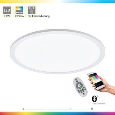 LED Deckenleuchte SARSINA-C in weiss Ø45cm H:5cm dimmbar mit Connect Funktion inkl. Fernbedienung