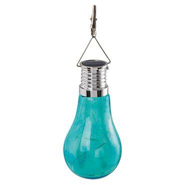 LED Z_SOLAR silber blau Ø6,5cm H:12,5cm