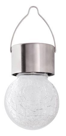 Außenleuchte Yola aus Metall / Glas satin-chrom mit Solarbatterie B:6cm IP44