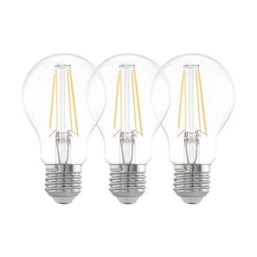 3er Set LED Leuchtmittel LM_LED_E27 klar Ø6cm L:10,7cm
